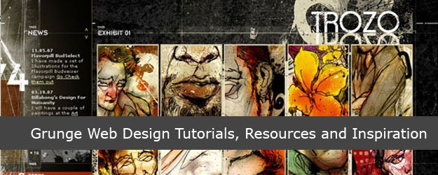 40 Grunge Web Design Tutorials, Resources and Inspiration
