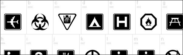45+ Pictogram Dingbat Fonts