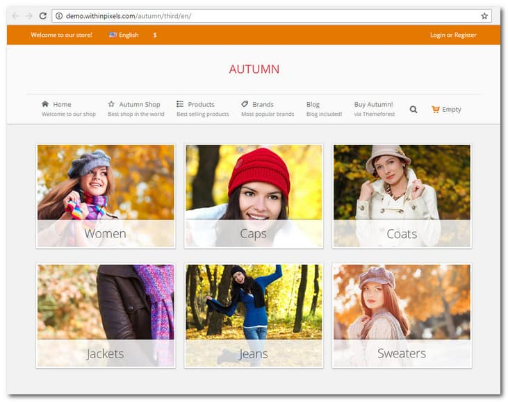 Autumn - Responsive Prestashop 1.6 Theme