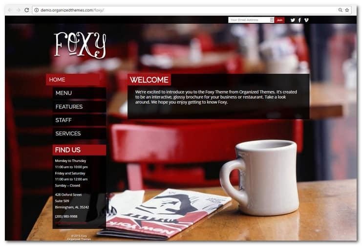 Foxy Restaurant Theme