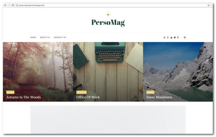 PersoMag - Clean & Personal Blogger Theme