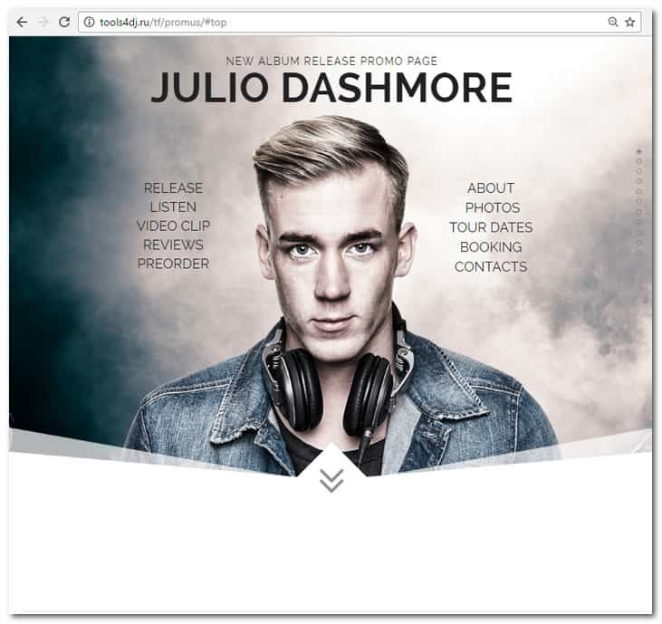 Promus - Music Album Release / DJ / Band / Musician Onepage Muse Template