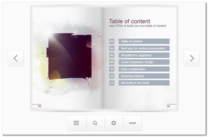 Responsive FlipBook jQuery