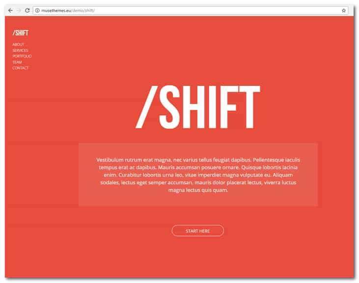 Shift - Creative Muse Template for Portfolios
