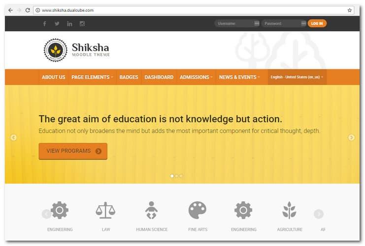 Shiksha - Responsive Moodle Theme