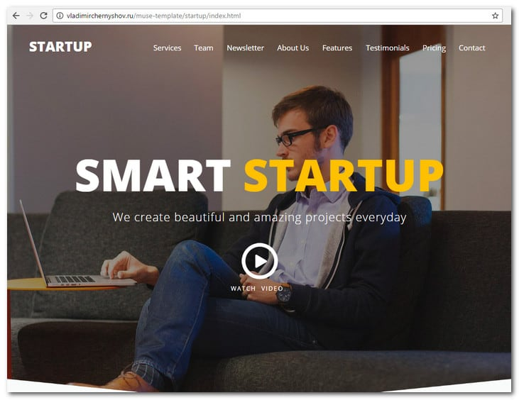Smart Startup - Creative Muse Template