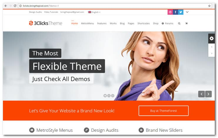 30 best wordpress themes get a remarkable website tripwire magazine 3clicks responsive multi purpose wordpress theme flashek Choice Image