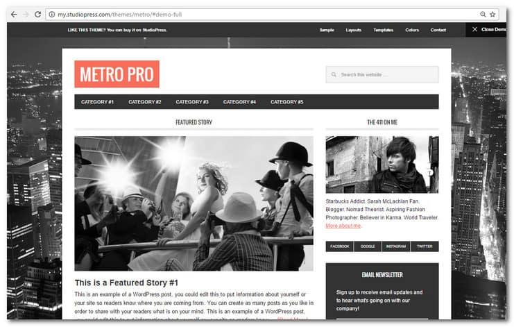 Metro Pro Theme