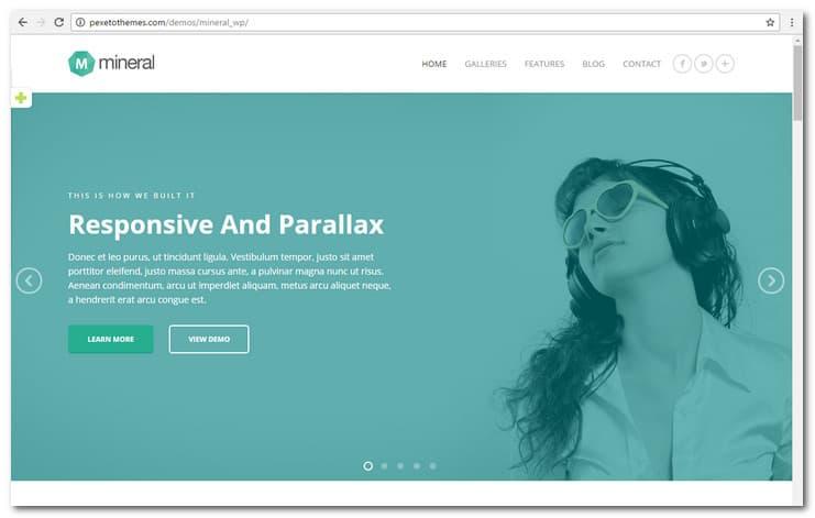 Mineral - Responsive Multi-Purpose WordPress Theme