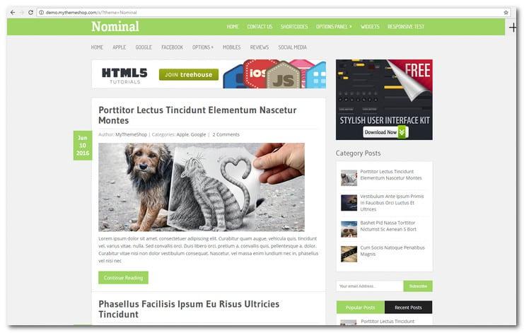 Nominal WordPress Blog Theme