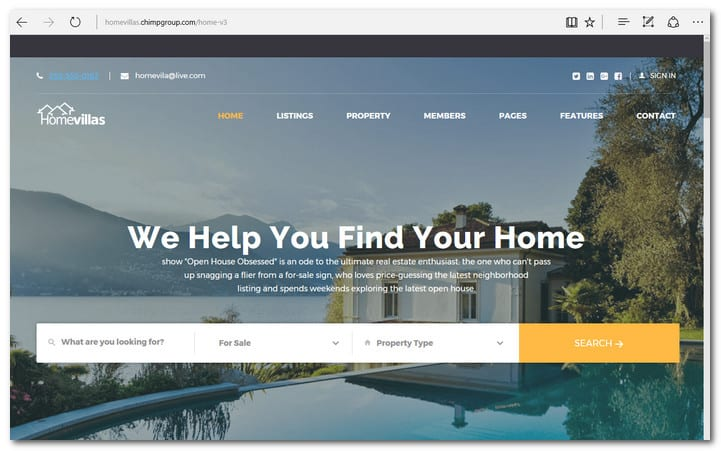 Home Villas Real Estate WordPress Theme