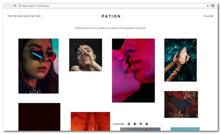 Pation Grid Theme
