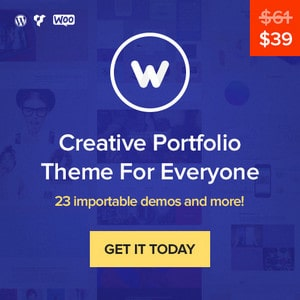 W creative Portfolio Theme Banner