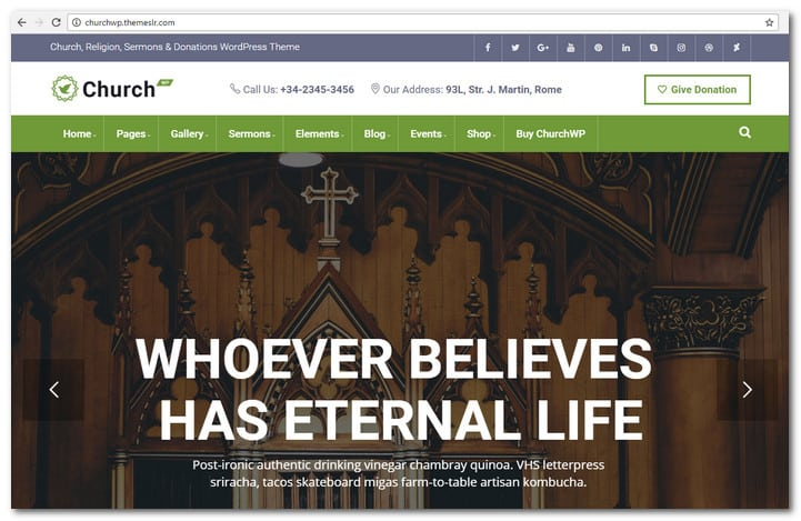 ChurchWP - Church, Religion, Sermons & Donations WordPress Theme
