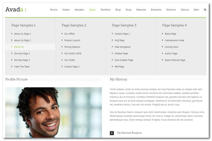 avada page templates