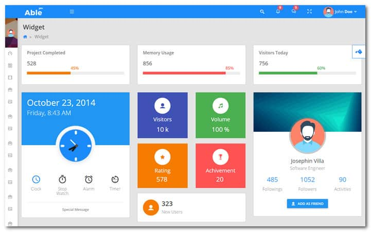 Able pro Responsive Bootstrap Admin Template