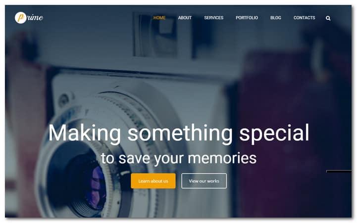 Clean Photographer Portfolio-Responsive WordPress Theme