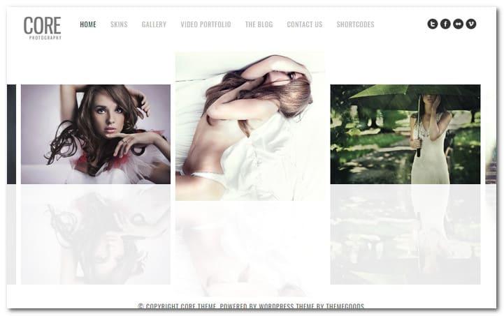 Core Minimalist Photography Portfolio