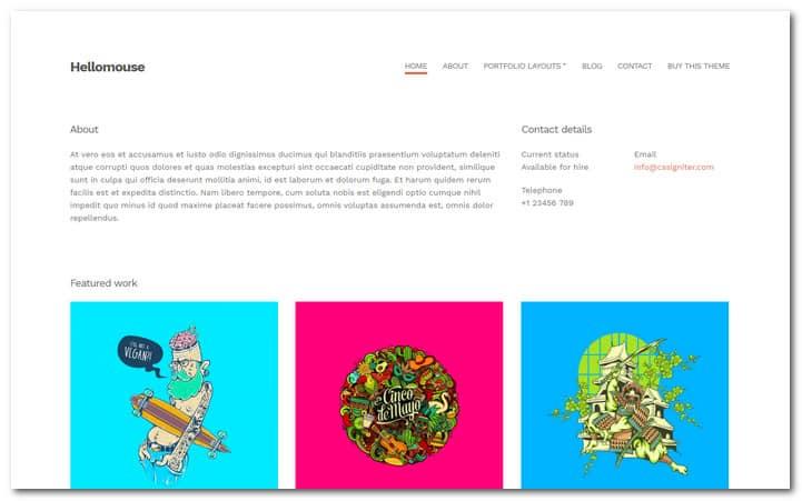 Hellomouse WordPress photo theme