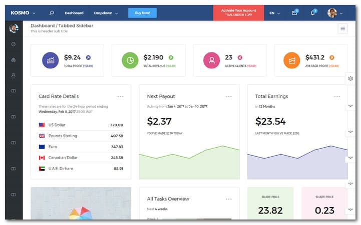 KOSMO Multi Purpose Responsive-BootstrapAdmin Dashboard Template