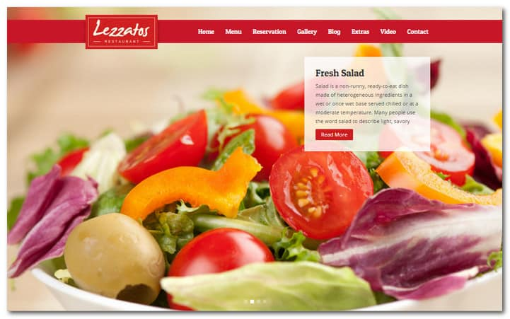 Lezzatos Restaurant Responsive WordPress Theme