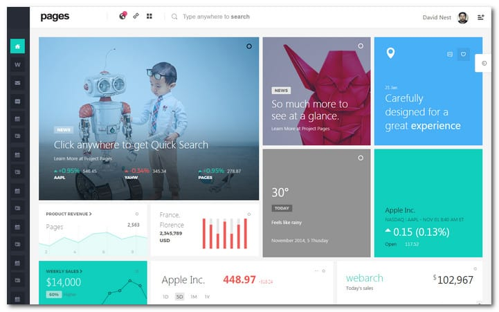 Pages – Admin Dashboard Template & Web App