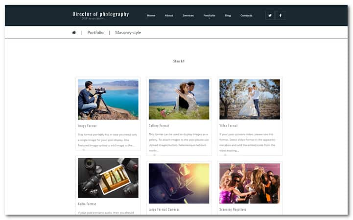 Photography Director WordPress Theme