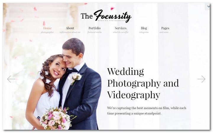 Wedding Photography/Videography WordPress Theme
