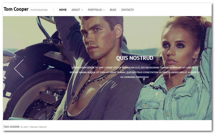WordPress Template for a Photographer Portfolio