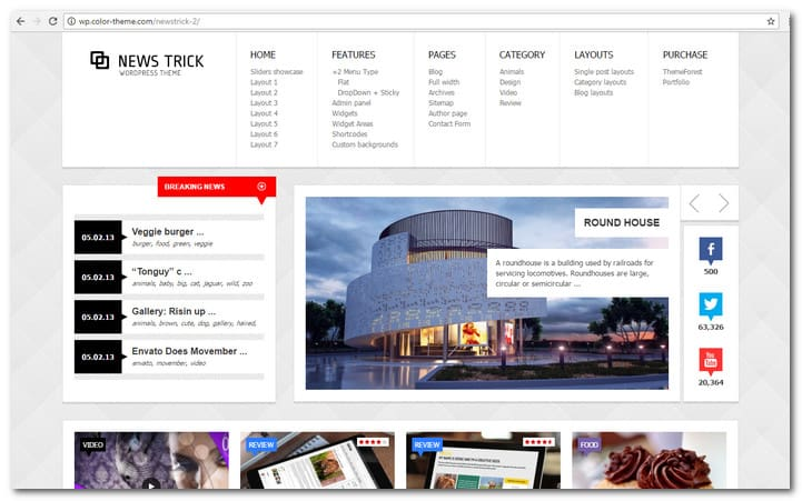 NewsTrick - Responsive News WordPress Theme