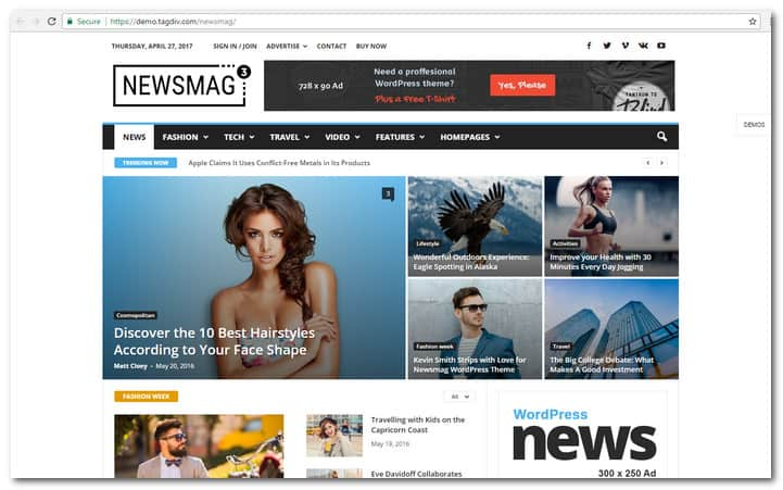 Newsmag News And Magazine WP Theme