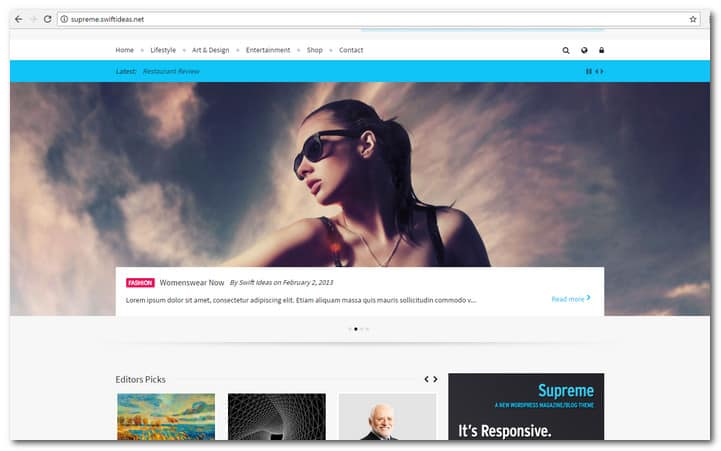 Supreme - Retina Responsive Magazine/Blog WP Theme