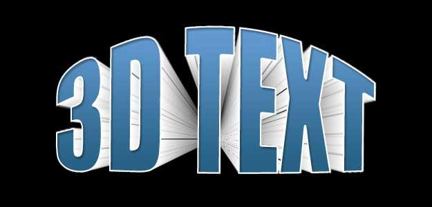 3D Text Effexts