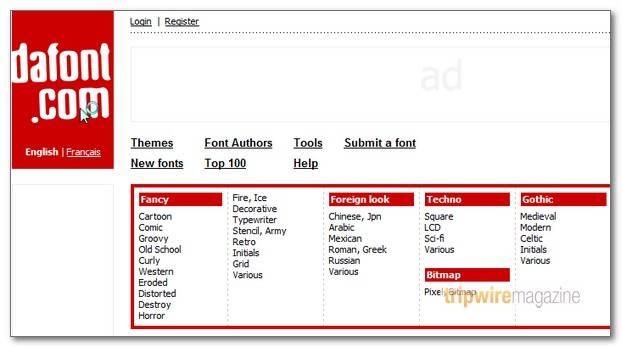 100 000+ Free Fonts Mega Compilation | Tripwire Magazine