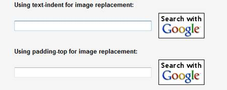 CSS image replacement for submit buttons