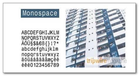 MonospaceTypewriter