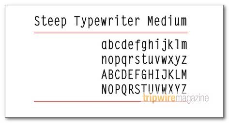 SteepTypewriterMedium