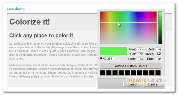dhtmlxColorPicker